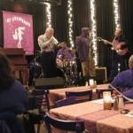 (L to R) Organist, Radam Schwartz; Trumpeter, Dave Ginsberg; Drummer, Earl Brice; Trombonist, Cornell McGee; unknown guitarrist
