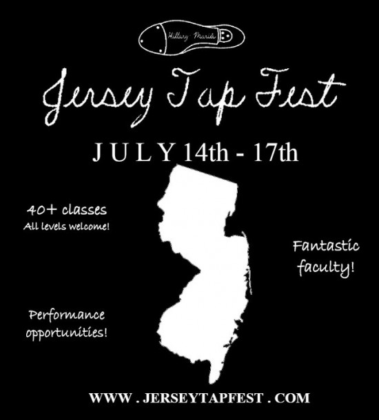 Jersey Tap Fest Promo Poster, July 14-17th at South Orange Performing Arts Center, NJ