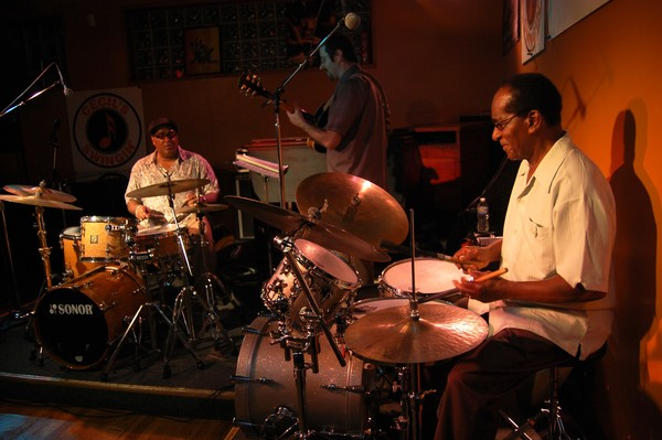 Father and son, Cecil Brooks II and Cecil Brooks III performed together at Cecil's Jazz Club in West Orange, NJ on July 9 and 10, 2010