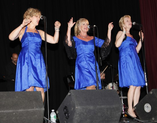 Sue Halloran, Jeanne O'Connor and Holli Ross make up the String of Pearls vocal jazz trio