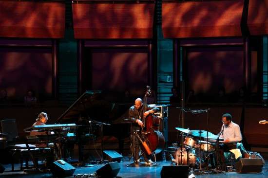 L to R: Chick Corea at the piano, Christian McBride on bass & Brian Blade at the drum kit