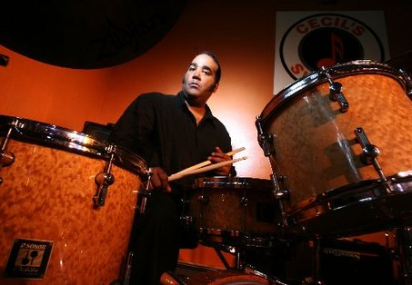 Cecil Brooks III at the drums